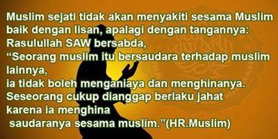 LARANGAN MENCACI SESAMA MUSLIM