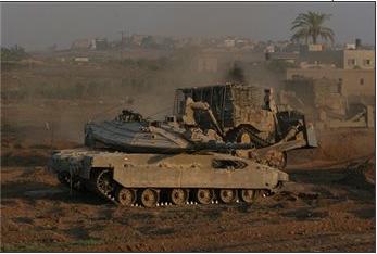 BULDOSER ISRAEL RATAKAN TANAH PALESTINA DI GAZA
