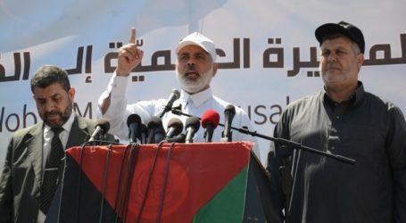 PIDATO ISMAIL HANIYA PADA 'GLOBAL MARCH TO JERUSSALEM'