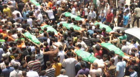 WARGA GAZA HADAPI AKSI GENOSIDA ISRAEL