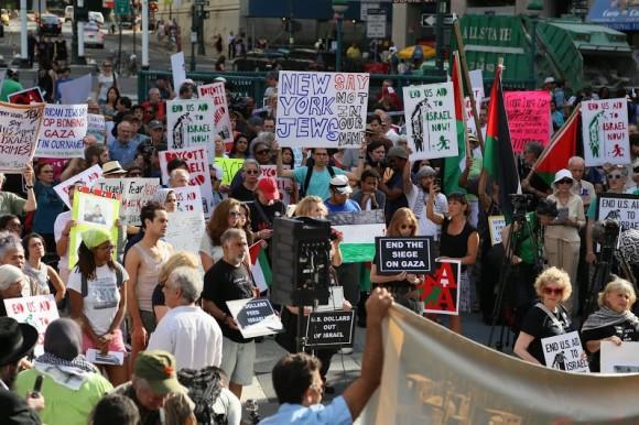 WARGA NEW YORK PROTES AGRESI ISRAEL