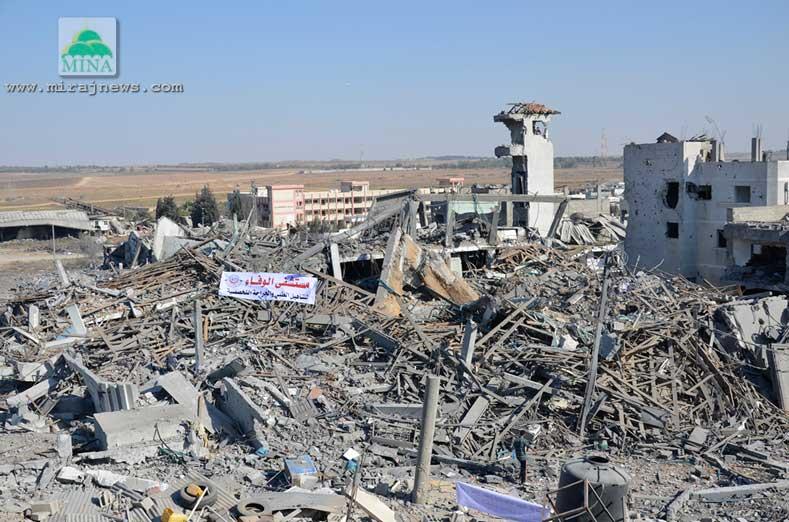 POLISI GAZA NONAKTIFKAN TIGA TON BOM ISRAEL