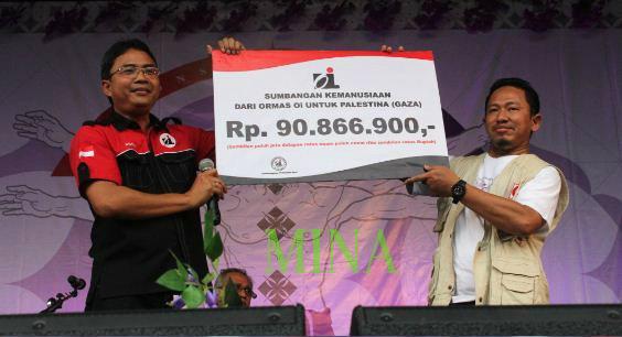 """ORMAS """"ORANG INDONESIA"""" SUMBANG GAZA DISAKSIKAN IWAN FALS"""