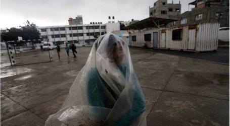 CUACA EKSTRIM DI GAZA PEMERINTAH LIBURKAN AKTIVITAS
