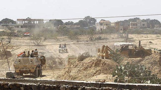 MILITER MESIR HANCURKAN 22 TEROWONGAN DI PERBATASAN GAZA