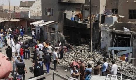 RANGKAIAN SERANGAN BOM DI IRAK TEWASKAN 16 ORANG