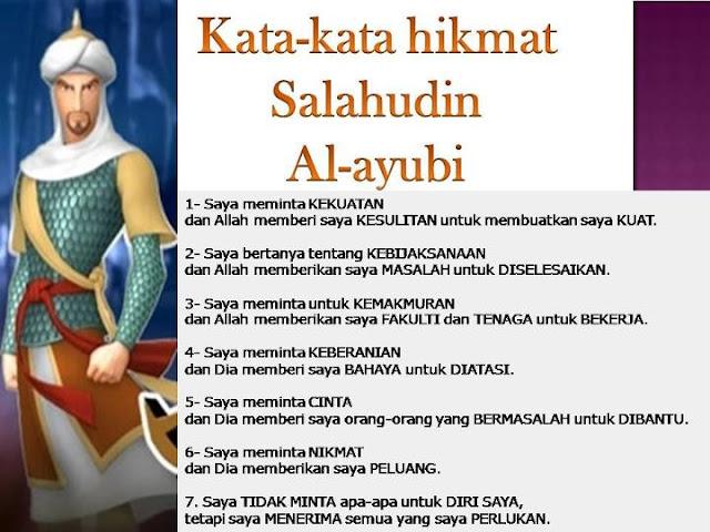 SHALAHUDDIN AL-AYYUBI, INSPIRASI SINGA PADANG PASIR