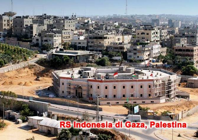 ALAT CANGGIH RADIOLOGI TIBA DI RS INDONESIA DI GAZA