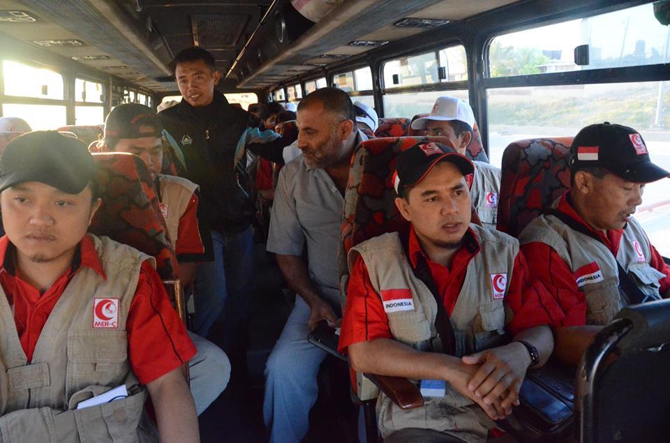 ROMBONGAN RELAWAN INDONESIA KELUAR GAZA DENGAN MUDAH