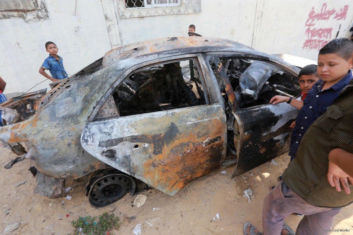 HAMAS-JIHAD ISLAM USUT DALANG BOM MOBIL DI GAZA