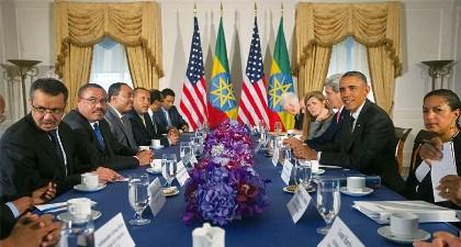 OBAMA BAHAS ISU TERORISME DAN HAM DI ETHIOPIA