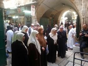 ISRAEL MASIH CEGAH MUSLIMAH PALESTINA MASUKI AL-AQSHA