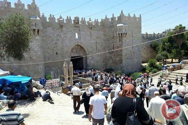 SEKITAR 300 WARGA GAZA SHALAT JUMAT DI AL-AQSHA