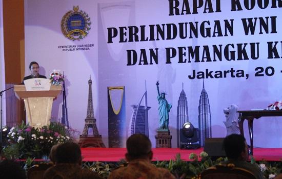 MENLU RI: PERLINDUNGAN WNI PRIORITAS POLITIK LUAR NEGERI INDONESIA