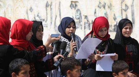 ANAK-ANAK GAZA SERUKAN MASYARAKAT INTERNASIONAL HENTIKAN KEJAHATAN ISRAEL