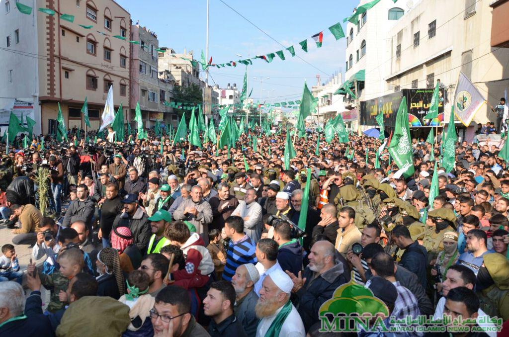 LAPORAN KORESPONDEN MINA DI GAZA :  HAMAS MEMPERINGATI HUT KE 28