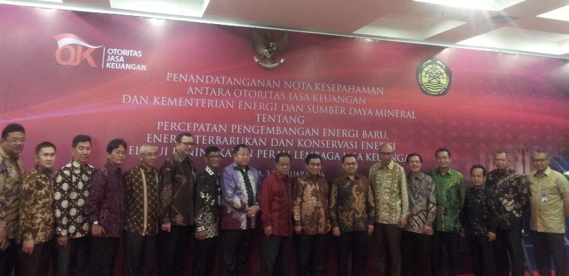OJK dan Kementerian ESDM Kerjasama Pengembangan Energi