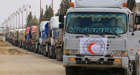 Konvoi Bantuan PBB Jangkau Kota Terkepung di Suriah