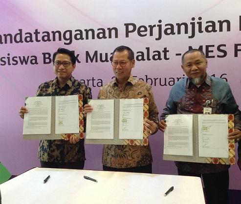 Bank Muamalat Salurkan Beasiswa Pendidikan Melalui MES Foundation