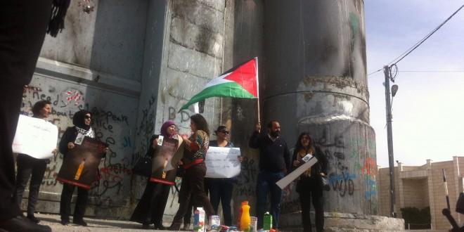 Komite Palestina Gelar Aksi Boikot Produk Israel di Tembok Aphartheid