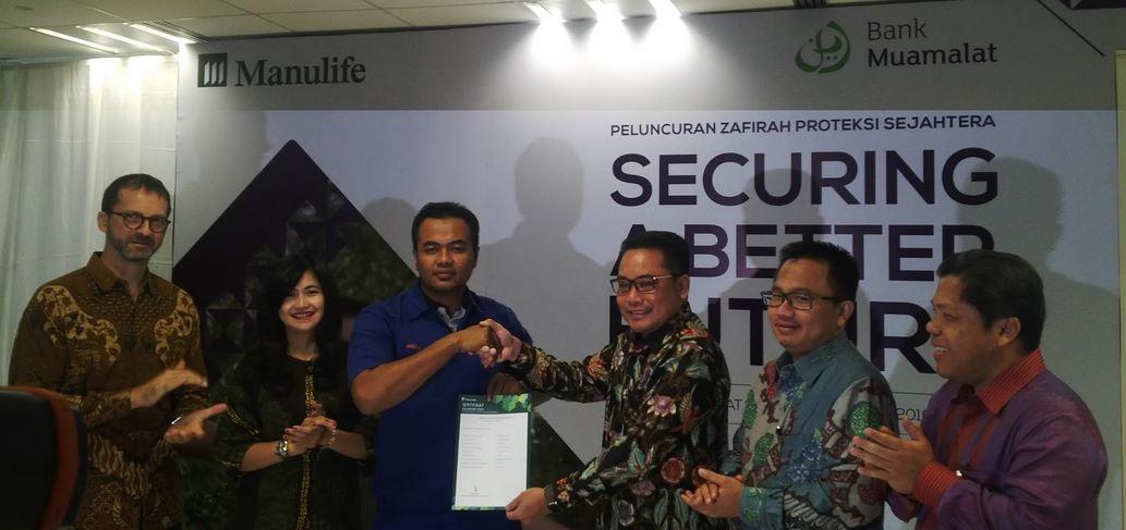 """Bank Muamalat dan Manulife Luncurkan Asuranasi Syariah """"Zafirah Proteksi Sejahtera"""""""