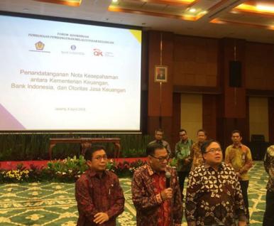 OJK, BI, dan Kemenkeu Lakukan Nota Kesepahaman Dukung Pembiayaan Pembangunan Nasional