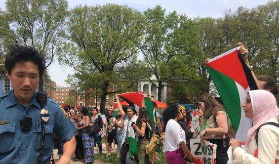Mahasiswa AS Pro-Palestina Protes Perayaan Tahunan IsraelFEST