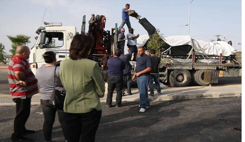 Patung Nelson Mandela Tiba di Ramallah Palestina