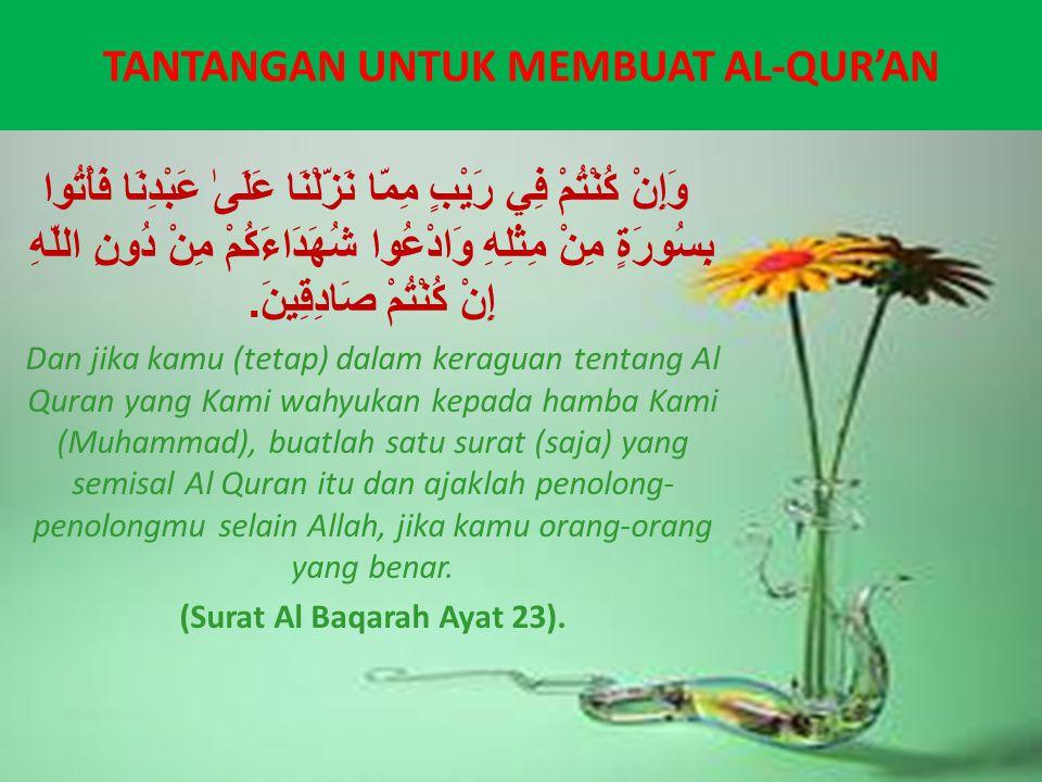 Tantangan Allah Membuat Semisal Al-Quran, Kajian Al-Baqarah 23-24