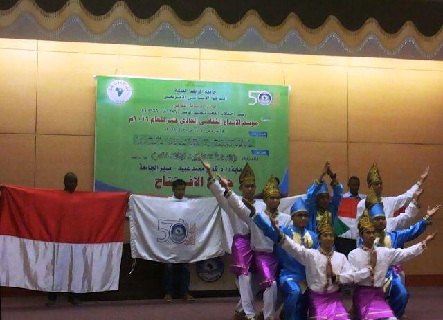 Tari Saman Ramaikan Pembukaan Musim Budaya ke-11 di Universitas Internasional Afrika