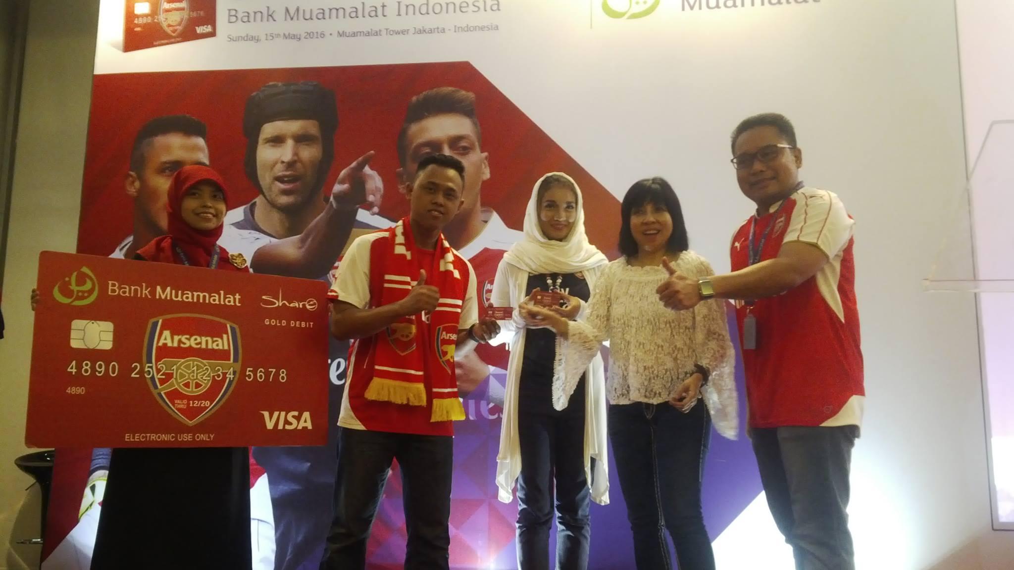 Muamalat Bersama Arsenal FC Hadirkan Co-Branding Kartu Debit