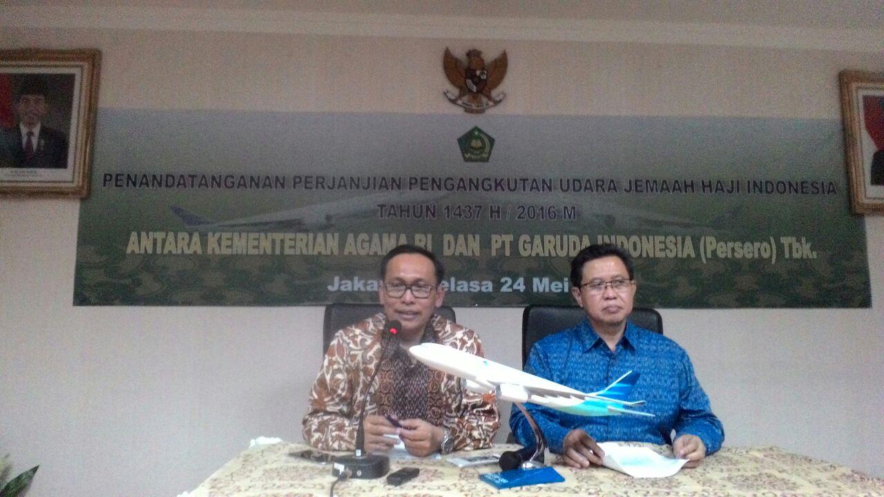 Haji 2016, Kemenag Tanda Tangani Mou Dengan Maskapai Garuda Indonesia