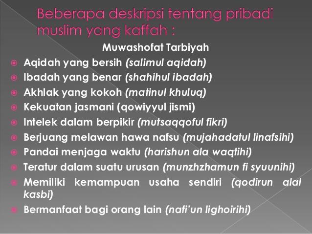 Urgensi Tarbiyah Islamiyah