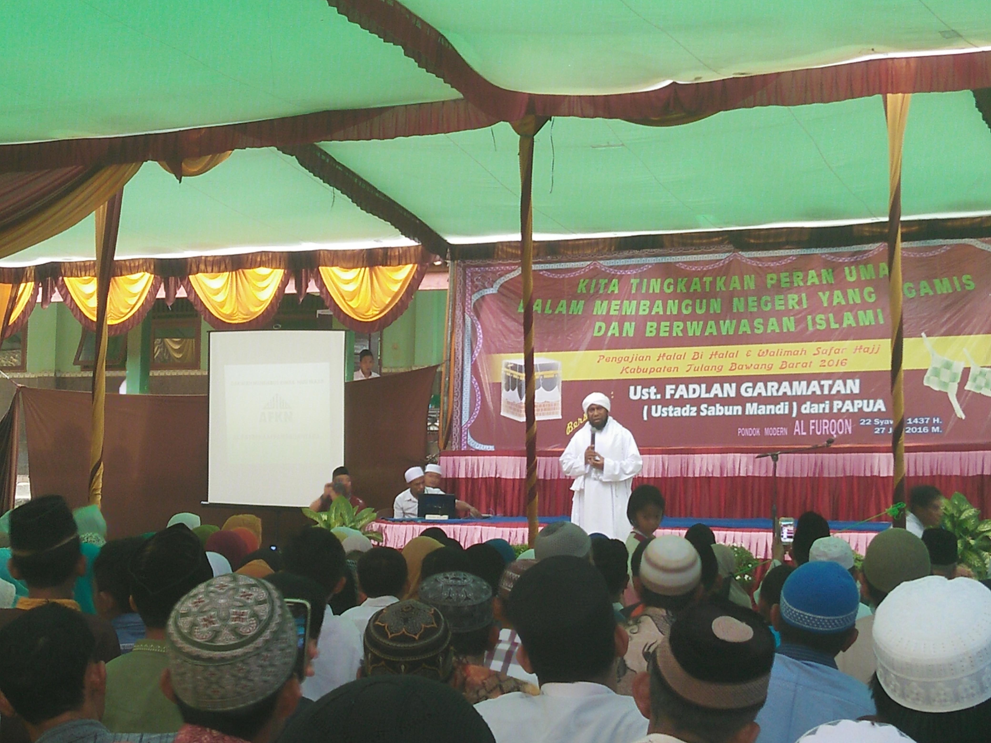 Ustadz Fadlan : Tidak Beragama Dengan Baik Bangsa Indonesia Akan Alami Kemunduran