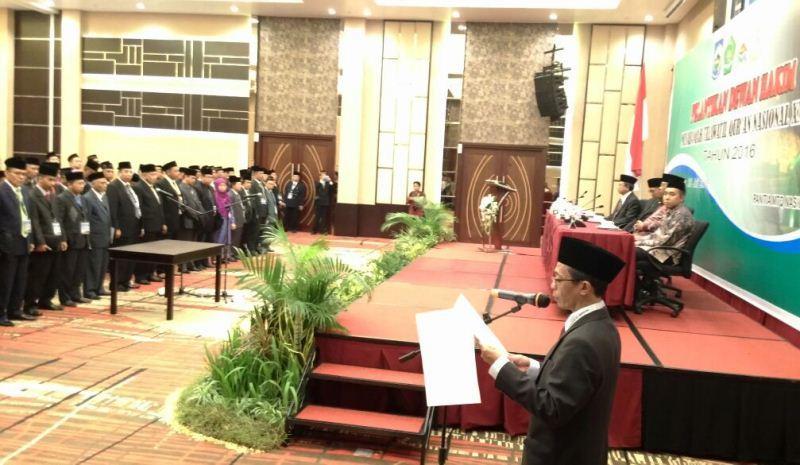 Lantik Dewan Hakim, Menag: Kawal Kredibilitas MTQN