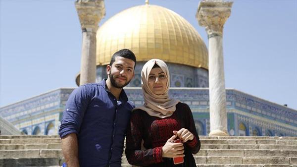 Para Pemuda Palestina Pilih Nikah di Masjid Al-Aqsha