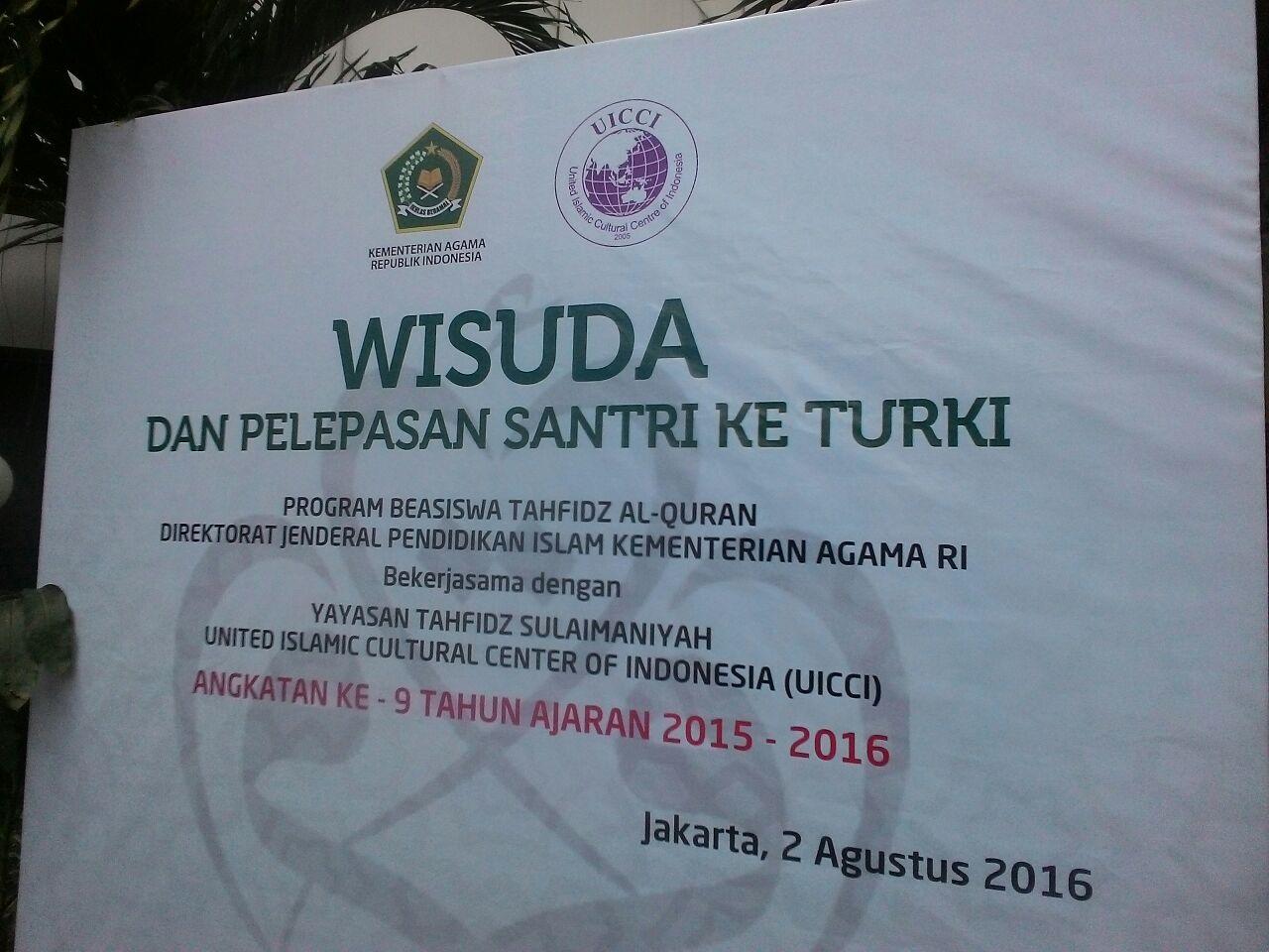 Sebanyak 173 Santri Hafal Al-Quran Dapat Beasiswa ke Turki