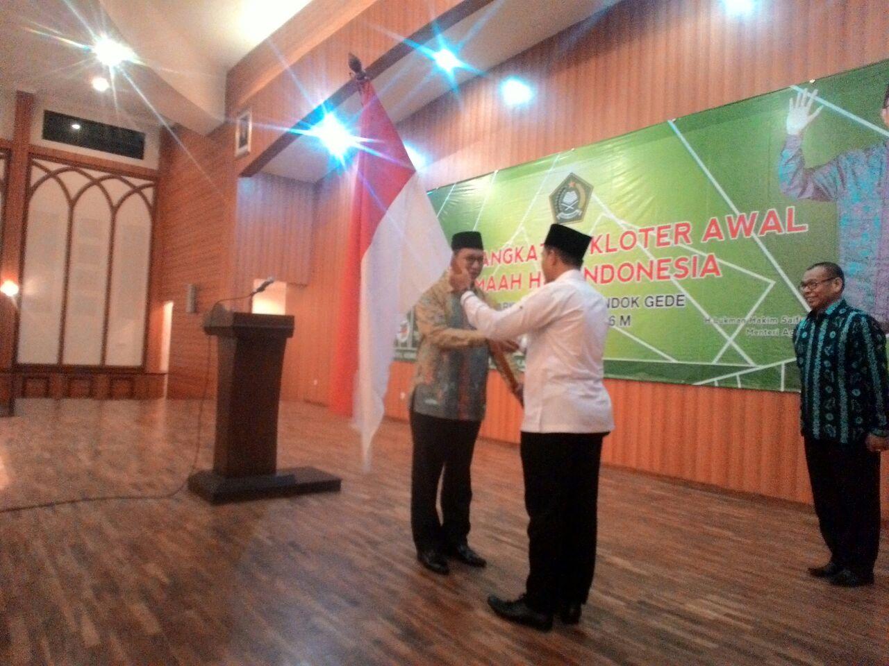 Menag Lepas Pemberangkatan Kloter Pertama Jamaah Haji Embarkasi Jakarta