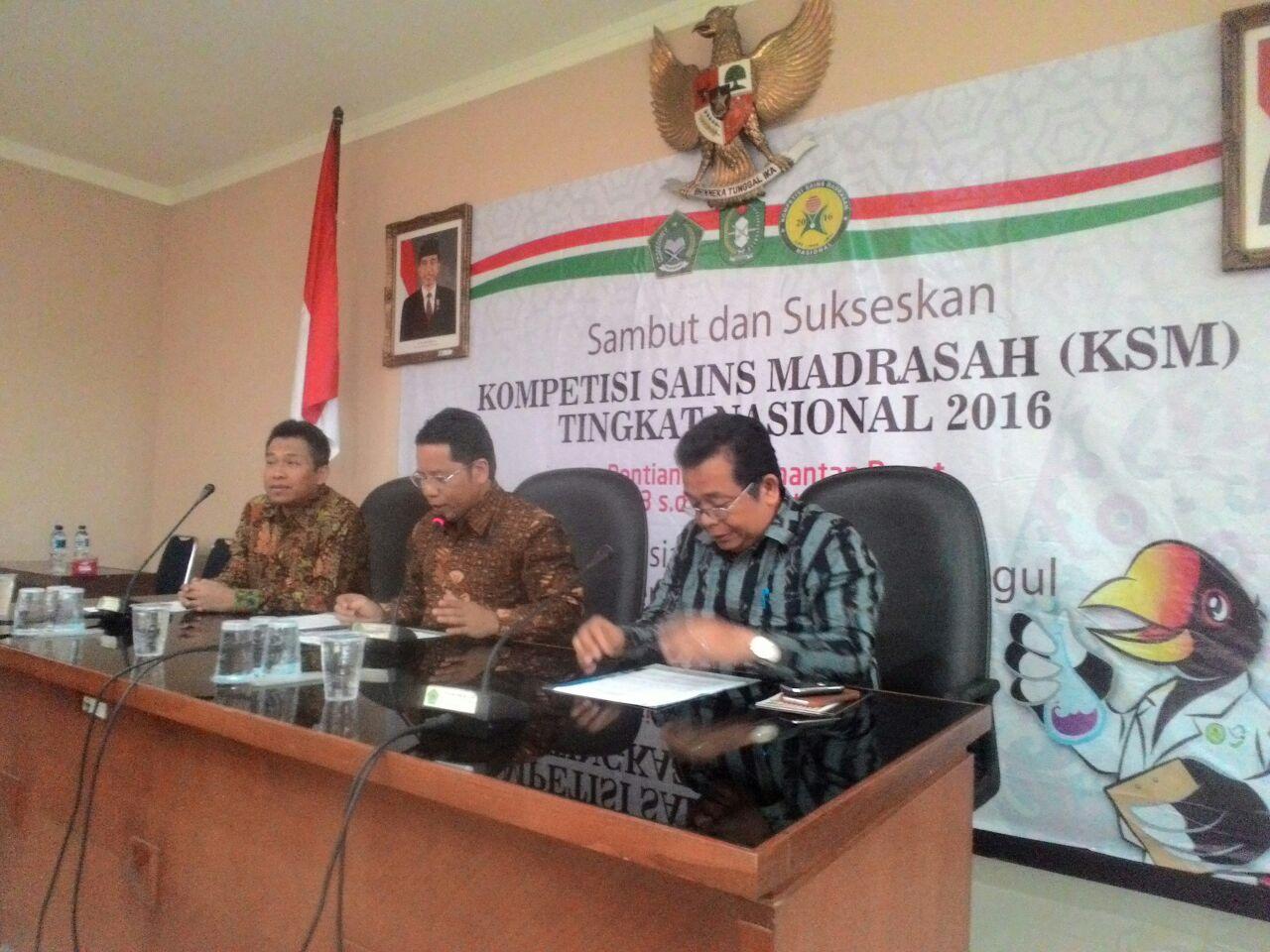 Kompetisi Sains Madrasah 2016 Digelar di Pontianak