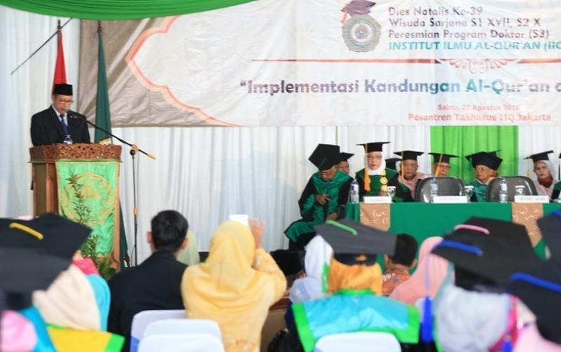 Menag Resmikan Program Doktoral Institut Ilmu Al-Qur'an (IIQ) Jakarta