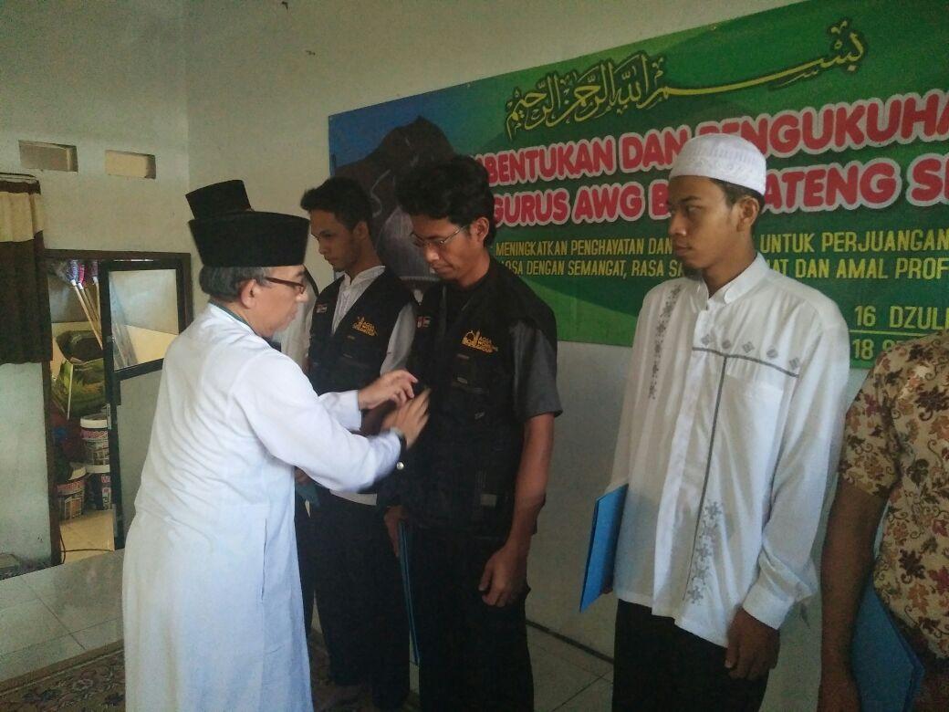 AWG Kukuhkan Pengurus Biro Jawa Tengah Selatan