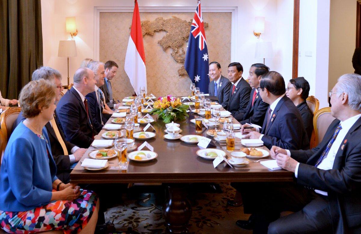 Presiden Jokowi Lakukan Pertemuan Bilateral Dengan PM Turnbull