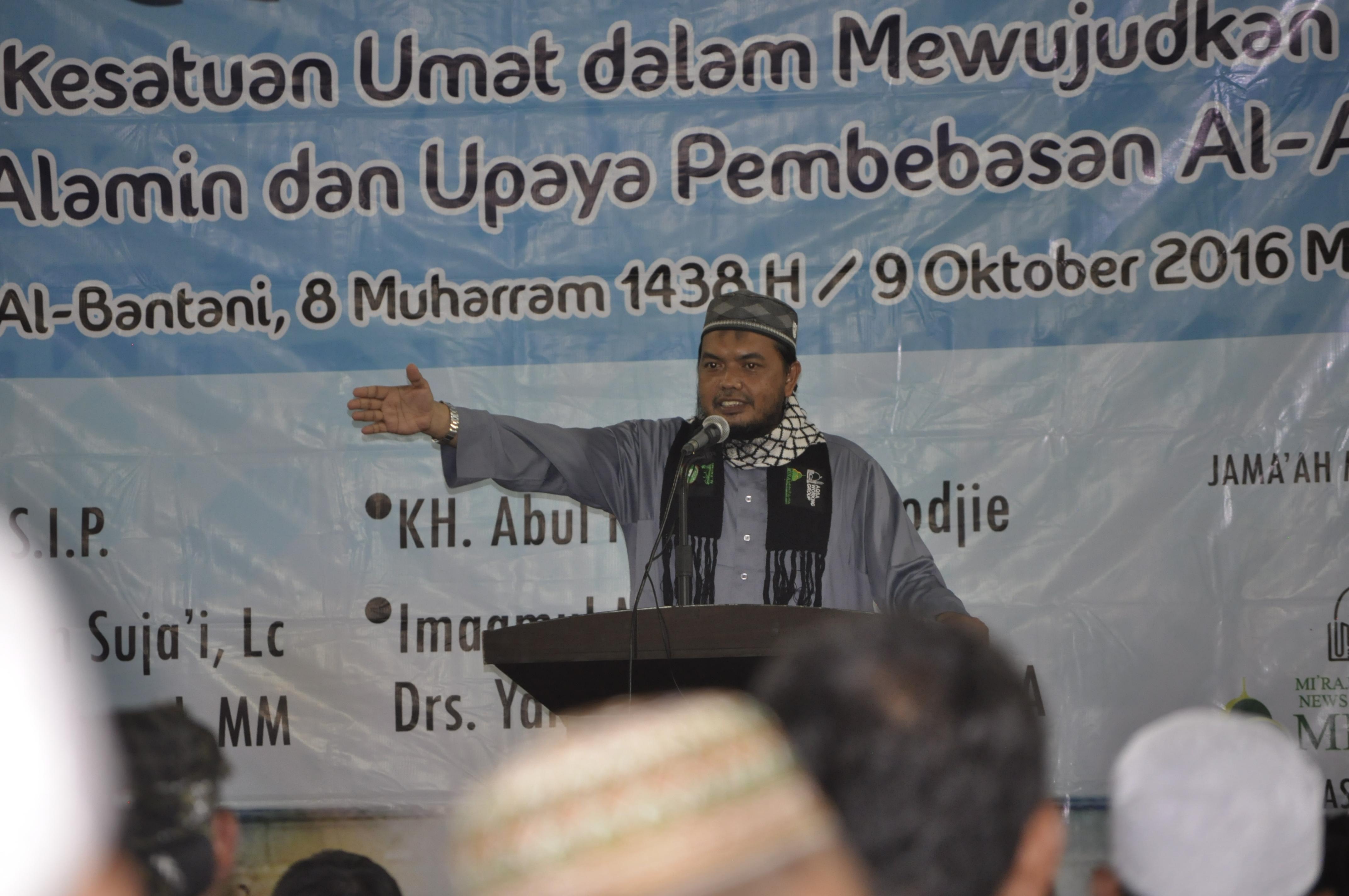 Wahyudi KS: Gapai Rahmat Allah Dengan Keimanan untuk Kebebasan Al-Aqsha