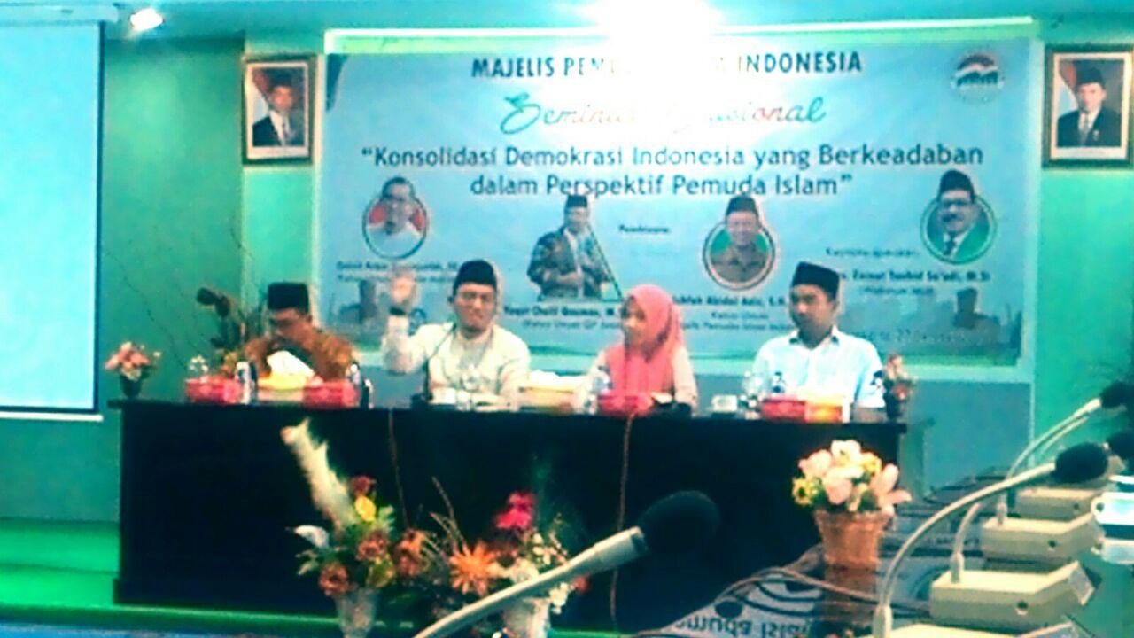 MPII Gelar Seminar Nasional Konsolidasi Demokrasi Indonesia