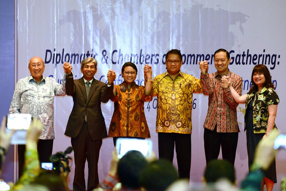 Menlu RI: Kerjasama Antara Komunitas Diplomatik- Kamar Dagang Dapat Tingkatkan Hubungan Bilateral Antar Negara