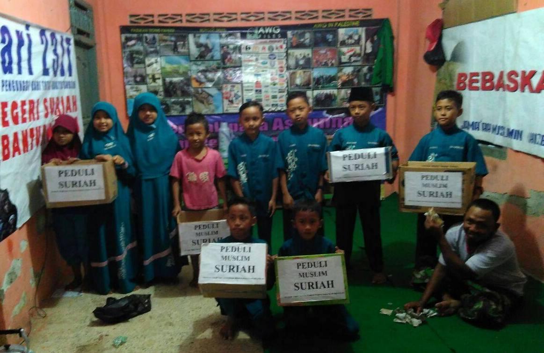 Santri TPA Pringsewu Lampung Galang Dana Bantu Suriah