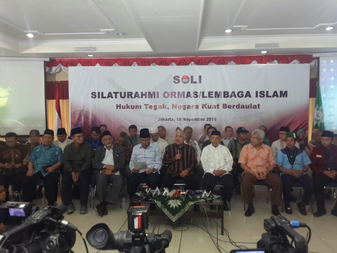 Pimpinan Pusat Ormas-Lembaga Islam Keluarkan Pernyataan Bersama