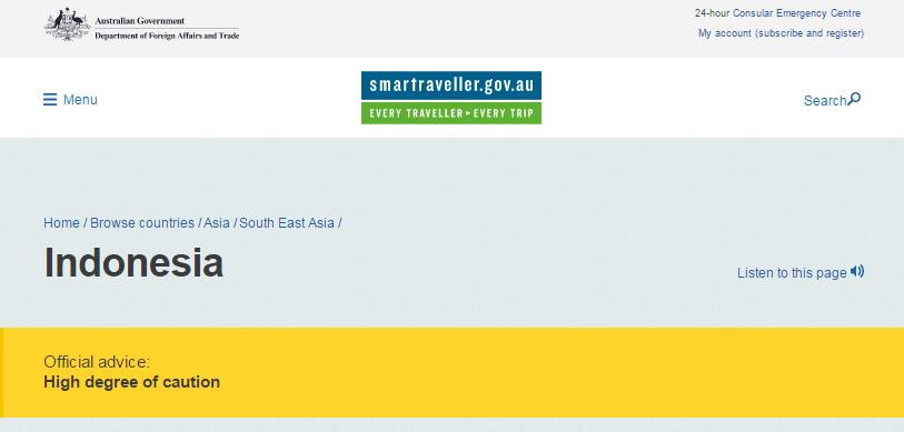 Australia Keluarkan Travel Advisory ke Indonesia Terkait Aksi 4 November