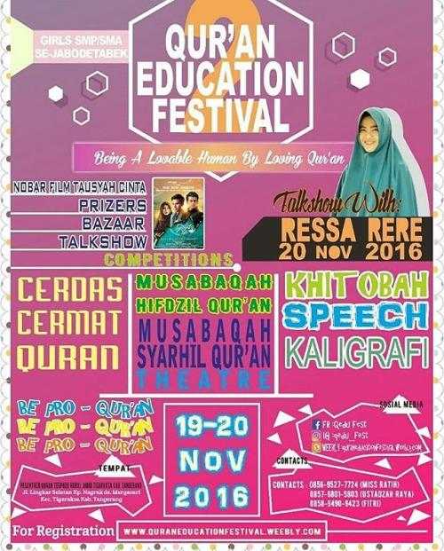 Ruhul Jadid Boarding School Adakan Qur'an Education Festival Kedua