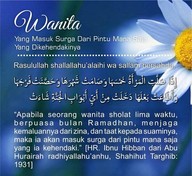 Pilihlah Pintu Surgamu Wahai Muslimah
